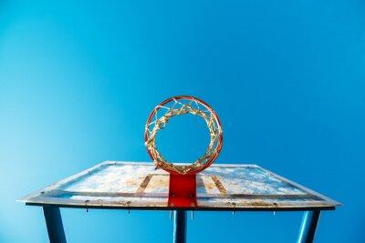 Fototapeta Plexi deska ulica koszykówki z obręczą na odkrytym korcie