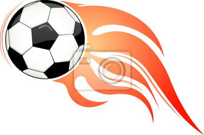 a20d81ab6 Fototapeta Płonące piłki. Piłka nożna lub piłki nożnej konstrukcja godło  lub logo.