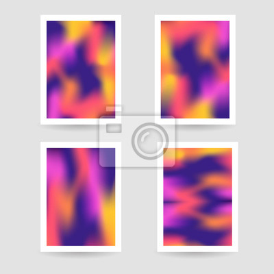 605c7f73c8eeaa Fototapeta Płynne kolory tła, niewyraźne tło, plakaty ustawione na wh