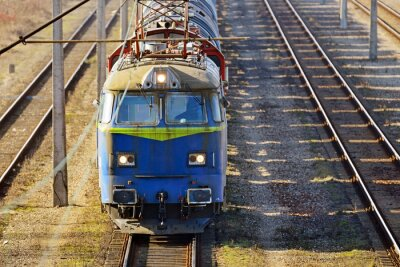 Fototapeta pociąg ładunku