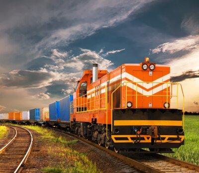 Fototapeta Pociąg towarowy