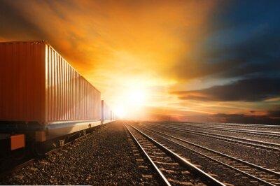 Fototapeta pociągi kontenerowe z branży działające na kolei utwór przeciwko beau