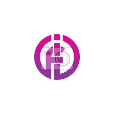 Początkowa Litera If Fi F I Wewnątrz Połączone Logo Kształtu