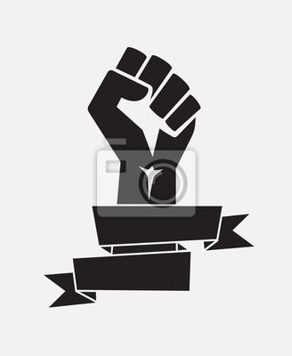 Fototapeta Podniósł Plakat Plakat Czarny Z Wstążką Wektor Odizolowane