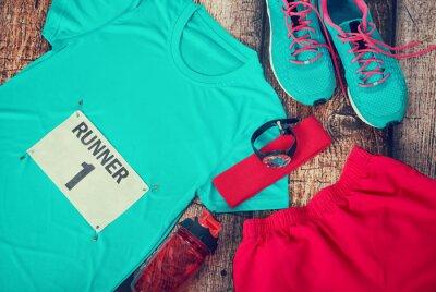 Fototapeta Podwozie określonymi gotowy na dzień wyścigu