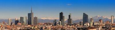 Fototapeta Poglądy Mediolanie z Alp w tle