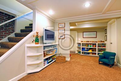 Fototapeta Pokój Zabaw W Białym Salonie Piwnicy