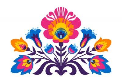 Fototapeta Polish Folk inspirowane kwiatami