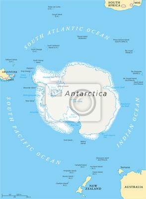 Polityczna Mapa Antarktydy Region Fototapeta Fototapety Ross