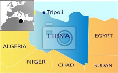 Polityczna Mapa Libii Fototapeta Fototapety Civil War Libia