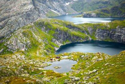 Fototapeta Północna Norwegia krajobrazy. Lofoty