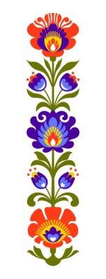Fototapeta Polski folk kwiaty Papercut
