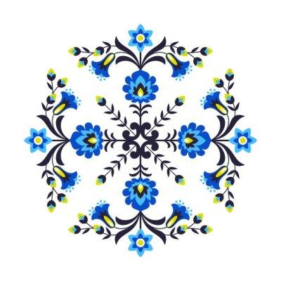 Fototapeta Polskie kwiaty ludowe