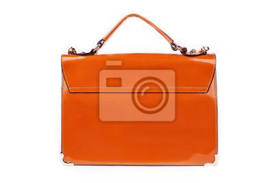 37f7b4dd5d529 Fototapeta Pomarańczowa torebka damska
