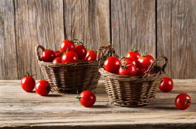 Fototapeta Pomidory w koszach