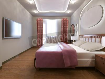 Pomysł Eklektycznej Sypialni Mały Eklektyczny Sypialnia Z Białymi