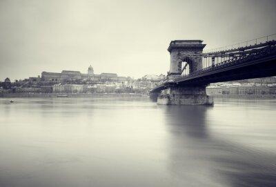 Fototapeta Ponury obraz zimy węgierskich zabytków ,