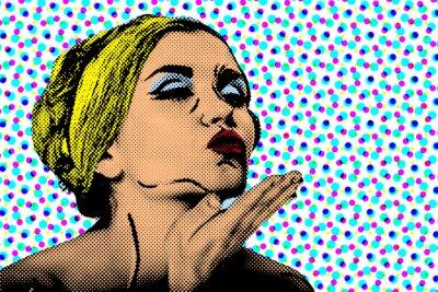 Fototapeta Pop art comic stylu kobiety, retro plakat