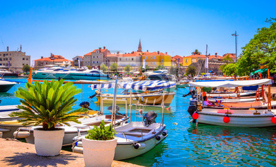 Fototapeta Port w starym mieście Budva, Czarnogóra