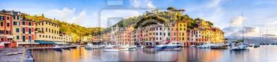 Fototapeta Portofino Hafen Panorama, Ligurien, Włochy