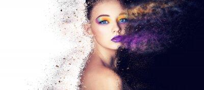 Fototapeta portret moda model kobieta kreatywnych makijaż, fotografia studyjna