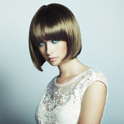 Fototapeta Portret piękne kobiety sensual z eleganckim Fryzura