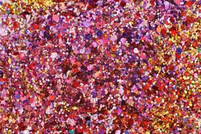 Fototapeta powierzchnia pokryta kolorowymi cekinami