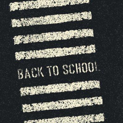 Fototapeta Powrót do szkoły. Koncepcja bezpieczeństwa drogowego. Wektor.