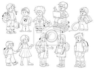 Powrot Do Szkoly Slodkie Dzieci W Szkole Gotowe Do Szkoly