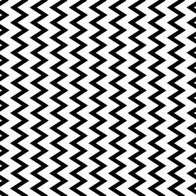 Fototapeta Powtarzalne faliste, zygzakowate linie pionowe w sposób równoległy.