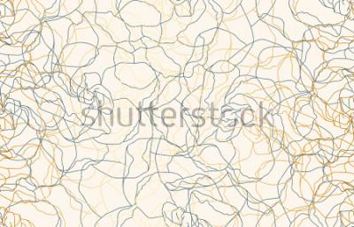 Fototapeta Printable bezszwowy rocznika doodle powtórki wzoru tło. Tapeta, ilustracji rastrowych w super wysokiej rozdzielczości.