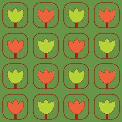 Fototapeta Próbki tkaniny tulipany