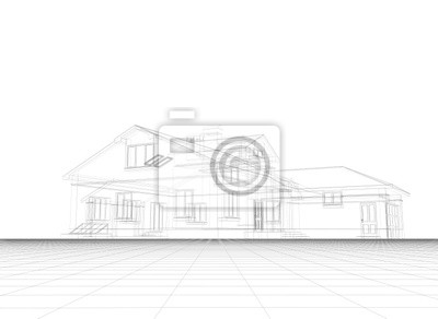 Fototapeta Projekt domu