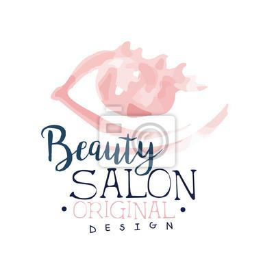 Fototapeta Projekt Logo Salonu Kosmetycznego Etykieta Do Salonu Fryzjerskiego