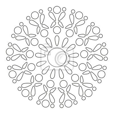 prosta mandala round element for coloring book czarne linie BR Element round element for coloring book czarne linie na bia ym tle