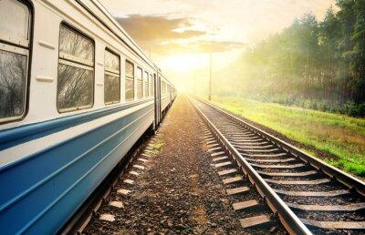Fototapeta Przeprowadzka pociągu