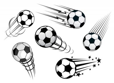 Fototapeta Przyspieszenie piłki futbolowe lub piłki futbolowe