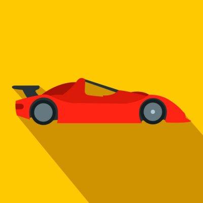 Fototapeta Przyspieszenie samochodu wyścigowego płaskim ikona