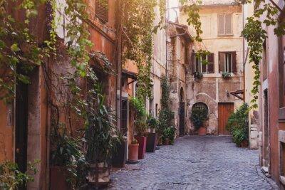 Fototapeta przytulne ulicy w Rzymie