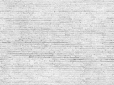 Fototapeta Puste częścią biały malowane ściany z cegły.