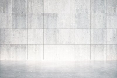 Fototapeta Puste pomieszczenie z betonową podłogą i ścianą