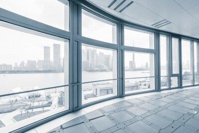 Fototapeta Pusty pokój biurowy w nowoczesnych budynkach biurowych