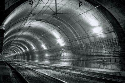Fototapeta Pusty tunel metra