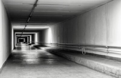 Fototapeta Pusty tunel w nocy