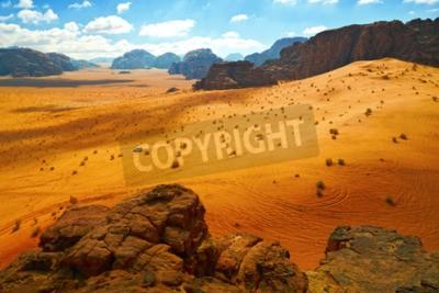 Fototapeta Pustynia Wadi Rum, Jordania