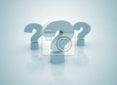 Fototapeta Question Marks - Symbole 3D