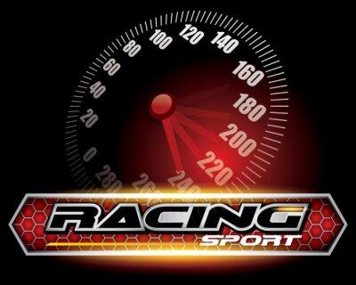 Fototapeta RACING SPORT CONCEPT na logo projektu wektor
