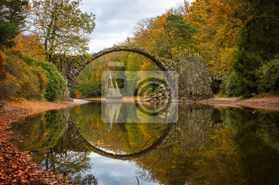 Fototapeta: Rakotzbruecke (most diabła)  rhododendron park kromlau  niemcy