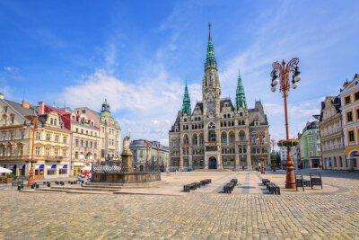 Fototapeta Ratusz i centralnego placu w Libercu, Czechy