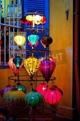 Fototapeta Ręcznie wykonane latarnie w Hoi An starożytnego miasta, Wietnamie